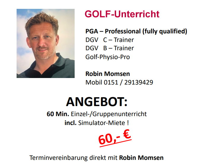 Golf Training durch PGA Pro